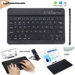 Ultra-mince Sans Fil Bluetooth Clavier 7 pouces Ultrathin Mini 7 inch Clavier Compatibilité Bluetooth 3.0 Windows/Android/iOS Système pour iPad/iPhone/Mac/Apple/ Samsung/ Tablettes/HP/Tablet (Noir) de la marque FREALL image 1 produit