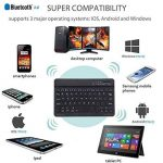 Ultra-mince Sans Fil Bluetooth Clavier 7 pouces Ultrathin Mini 7 inch Clavier Compatibilité Bluetooth 3.0 Windows/Android/iOS Système pour iPad/iPhone/Mac/Apple/ Samsung/ Tablettes/HP/Tablet (Noir) de la marque FREALL image 3 produit